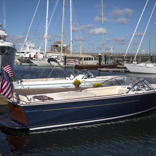 Vanquish yachts in Newport Shipyard.