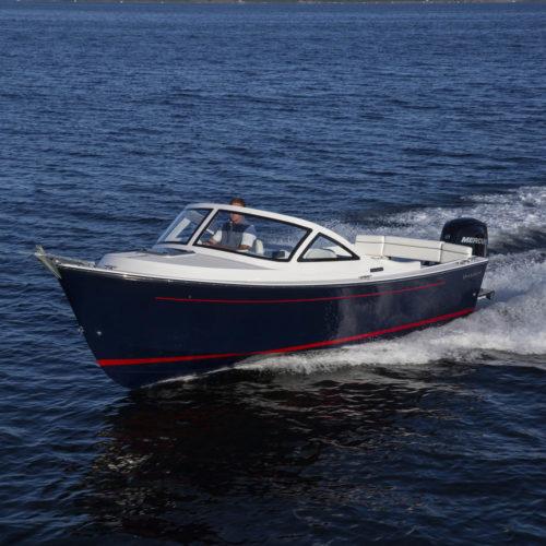 Vanquish Bristol Harbor Series 23 Cuddy out of Bristol RI.